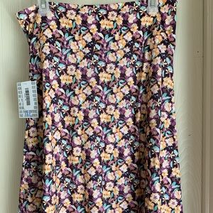 Lularoe Azure XL Floral Skirt New with tags